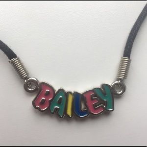 Jewelry - ⚡️⚡️3/$10 Bailey name necklace multicolor